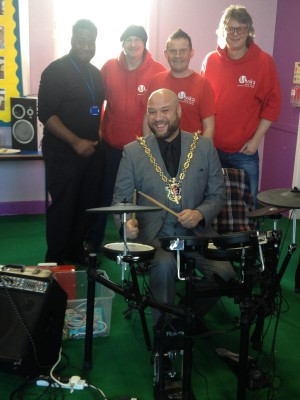Musica team & Ipswich Mayor @ Lindbergh PRU Dec 2015